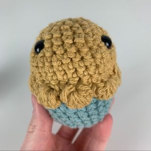 HANDMADE KAWAII AMIGURUMI CROCHET MUFFIN PLUSH NEW